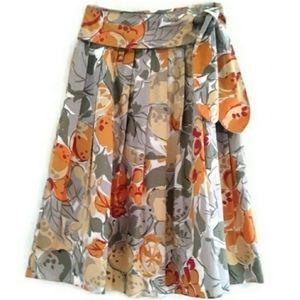 Burberry Vintage Pleated Flowered Skirt EU 40